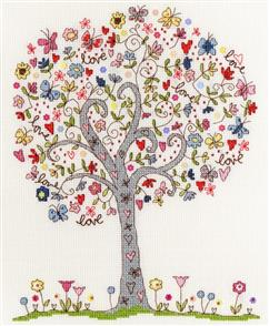 Bothy Threads  Love Tree - Cross Stitch Kit