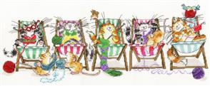 Bothy Threads  Cross Stitch Kit - Kitty Knit