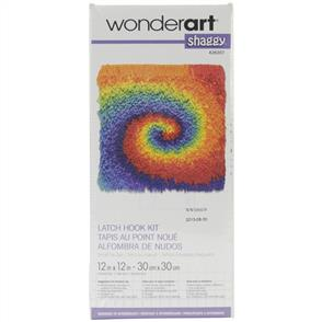Caron Wonderart  Latch Hook Kit - Shaggy Tie Dye