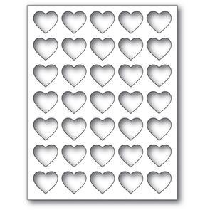 Poppystamps  Grid Heart Frame Die