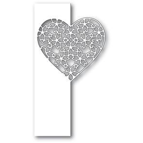 Poppystamps  Floral Lace Heart Split Die