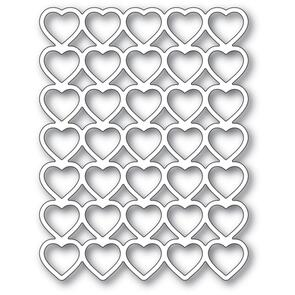 Poppystamps  Banded Hearts Die