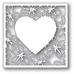 Poppystamps  Scribble Daisy Heart Frame Die