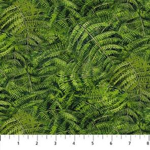 Northcott  Fabric - Naturescapes 23112-74 Fern
