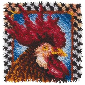 "Caron Wonderart  Latch Hook Kit - Rooster - 12"" x 12"""