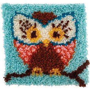 "Caron Wonderart  Latch Hook Kit - Owl Hoot Hoot - 12"" x 12"""