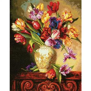 Dimensions  Parrot Tulips  Cross Stitch Kit
