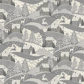 Makower Scani Scenic - 2355 - Christmas - Grey / Silver