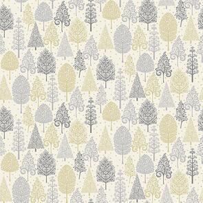 Makower Scandi Trees - 2356 - Christmas - White