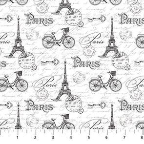 Michel Design Works - Fabric - Ooh La La! - White - 23566-10