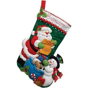 Bucilla  Santa's List Christmas Stocking Felt Applique Kit