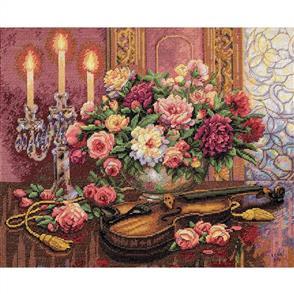 Dimensions  Romantic Floral - Cross Stitch Kit