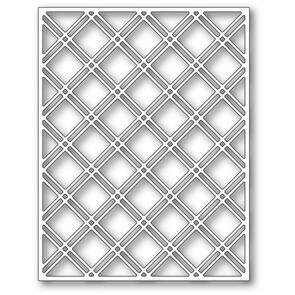 Poppystamps  Double Diamond Latice Plate Die