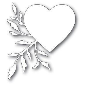 Poppystamps  Leaf Flourish Heart Die