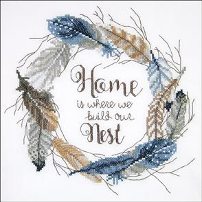 Janlynn  Stamped Cross Stitch Kit - Build Our Nest-Stitched In Floss