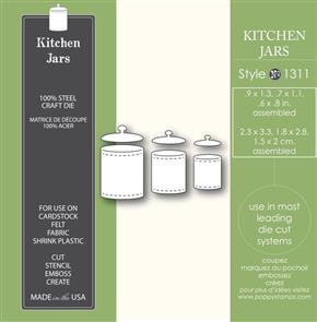 Poppystamps  Die - Kitchen Jars