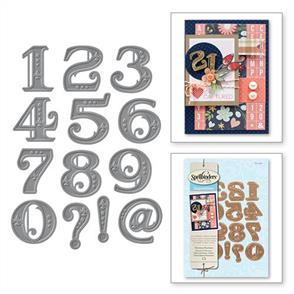 Spellbinders  Victorian Numbers - Die Set