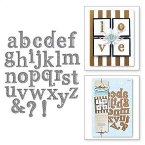 Spellbinders  Victorian Letters - Die Set Alphabet