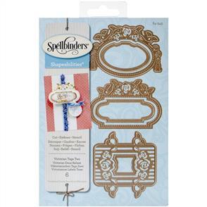 Spellbinders  Dies - Victorian Tags Two
