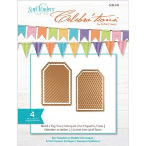 Spellbinders  Celebra'tions Die Build a Tag 2 - 4pc