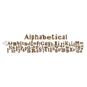 Sizzix Tim Holtz Alphabet Die - Alpabetical Strip