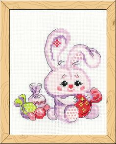 Riolis  Bunny with a Candy Cross Stitch Kit