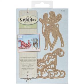 Spellbinders  Dies - Reindeer and Sleigh Christmas