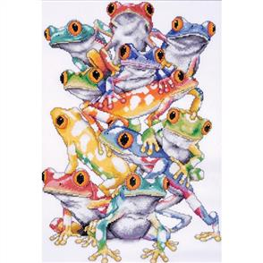 Design Works  Cross Stitch Kit: Frog Pile
