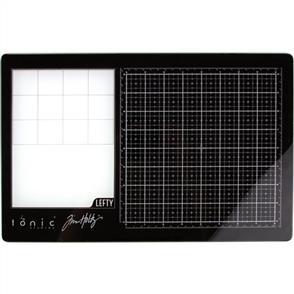 """Tonic Tim Holtz - Travel Glass Media Mat 10.25""""X15.5"""" - Left-Handed"""
