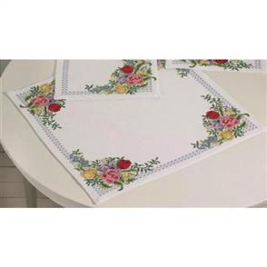 Permin  Tablecloth Cross Stitch Kit - Spring Flowers