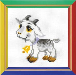 Riolis  Grey Goat - Cross Stitch Kit