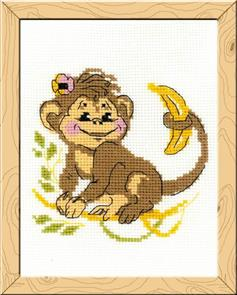 Riolis  Monkey - Cross Stitch Kit