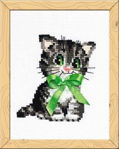 Riolis  Bow Kitten - Cross Stitch Kit