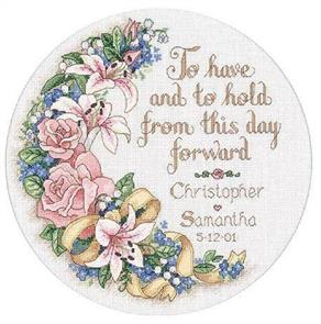 Dimensions  To Have & To Hold Wedding Record Cross Stitch Kit