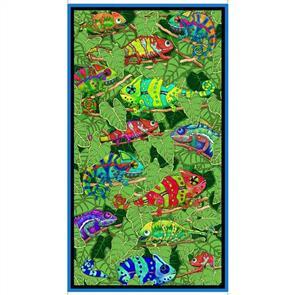 "QT Fabrics  Desiree's Designs - Color Me Chameleon 24"" Panel"
