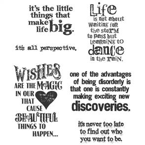Stampers Anonymous Tim Holtz Stamp Set - Good Thoughts - Quotes