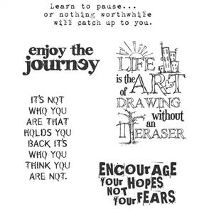 Stampers Anonymous Tim Holtz Stamp Set - Just Thoughts - Quotes