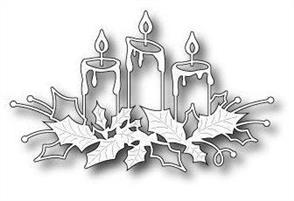 Memory Box  Die - Glowing Candles - Christmas