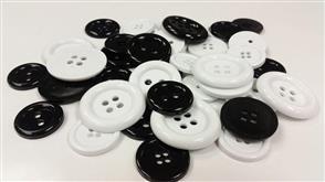 MISC  Bulk Buttons Black & White - EXTRA LARGE