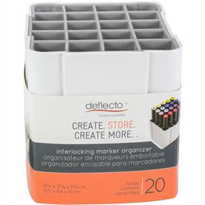 Deflecto  Interlocking Marker Organizer - White
