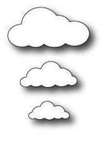 Memory Box  Die - Puffy Clouds