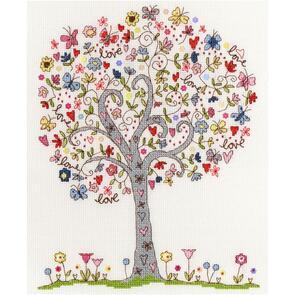 Bothy Threads  Kim Anderson - Love Tree - Cross Stitch Kits