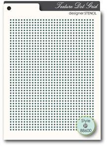 Memory Box Stencil - Texture Dot Grid