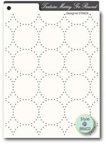 Memory Box Stencil - Texture Merry Go Round