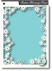 Memory Box  Stencil - Blooming Frame