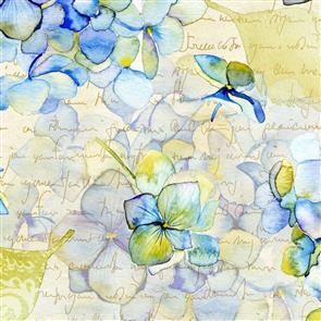 In the Beginning Fabrics  - Hydrangea/Script 2TLC-1