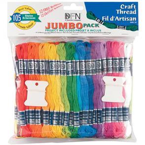 Janlynn Pearl Thread Jumbo Pack 9.9yd 105/Pkg