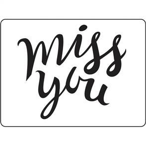 Darice Embossing Folder - Miss You