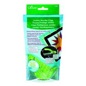Clover  Jumbo Wonder Clips, Neon Green