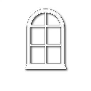 Poppystamps  Die - Grand Madison Arched Window